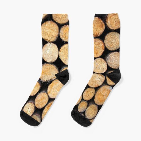 Wooden logs Socks