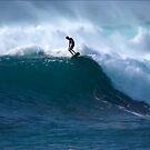 Surfer Waimea Bay Hawaii by kevin smith  skystudiohawaii