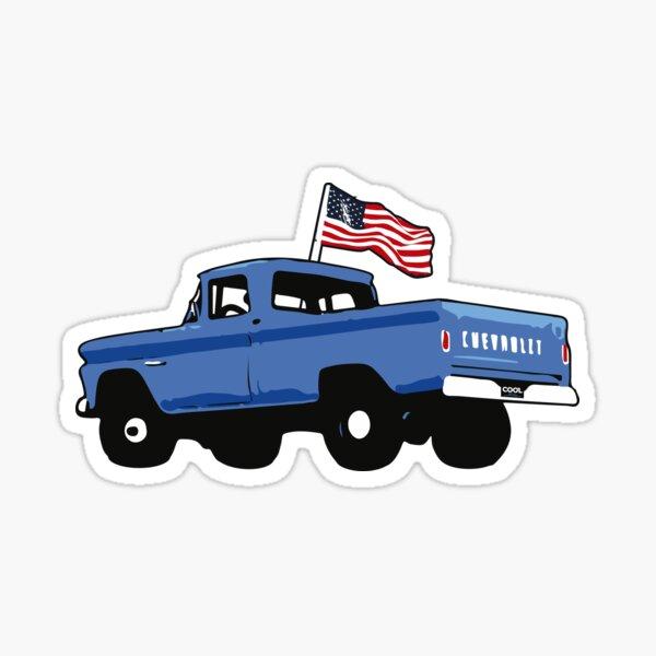 60-66 Blue Fleetside American Flag Sticker