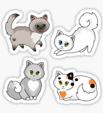 Neko to Asobo - Let's Play With Cats! Blue Flavor Sticker