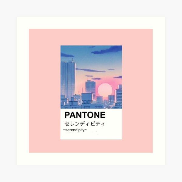 Pantone aesthetic anime city paint Art Print