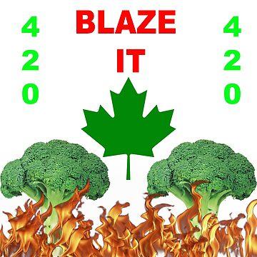 420 BLAZE IT-CANADIAN VEGAN EDITION! by SquincyJones