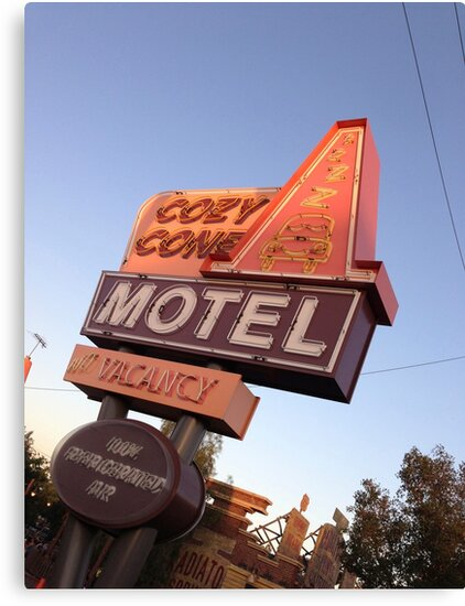 Cozy Cone Motel Sign by swylie