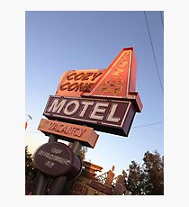 Cozy Cone Motel Sign Photographic Print