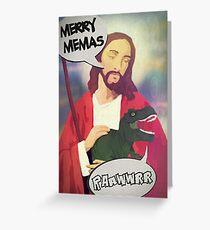 T-REXMAS FROM JURASSIC JESUS Greeting Card