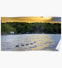 Sunrise on Sodus Bay Poster