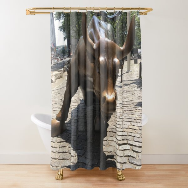 The Charging Bull Shower Curtain