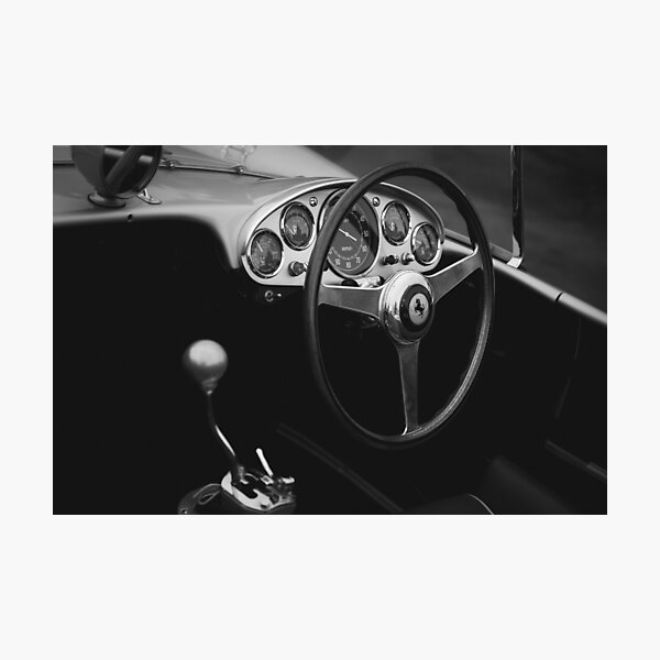 Classic Ferrari Interior Photographic Print