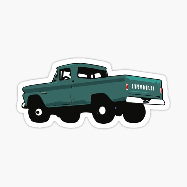 60-66 Turquoise Fleetside 4x4 Sticker