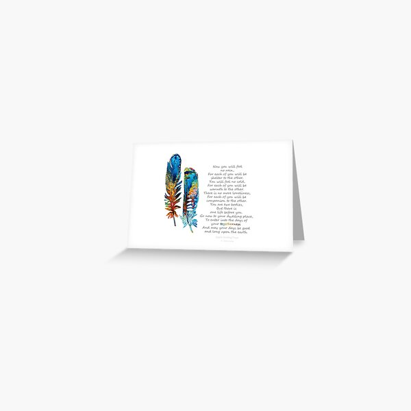 Togetherness - Native American Wedding Prayer - By Sharon Cummings Greeting Card