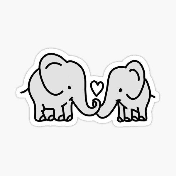 liebe Elefanten Sticker