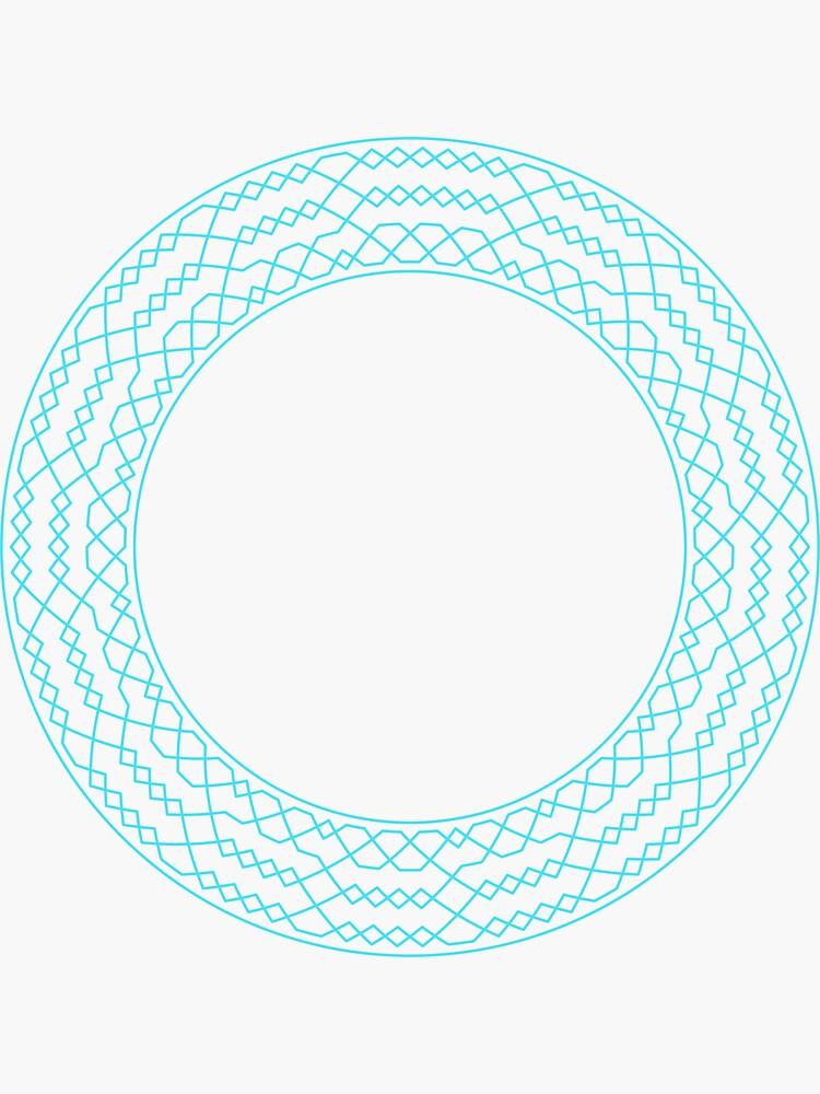 Stedman Triples Method Wreath — Stickers (Blue) by RingingRoom