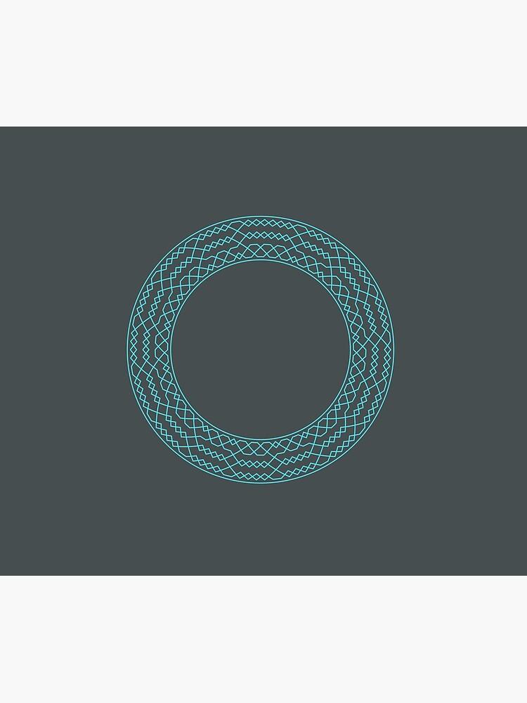 Stedman Triples Method Wreath — Mug (Blue) by RingingRoom