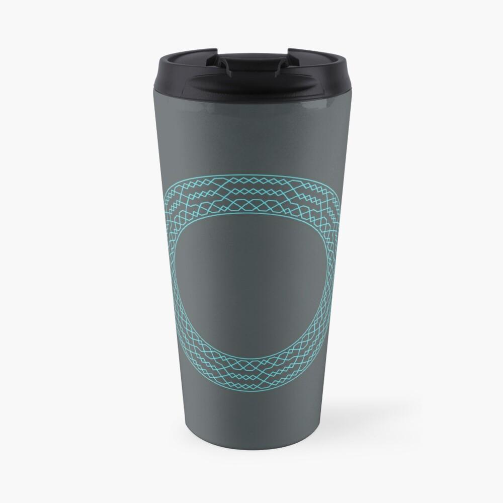 Stedman Triples Method Wreath — Mug (Blue) Travel Mug