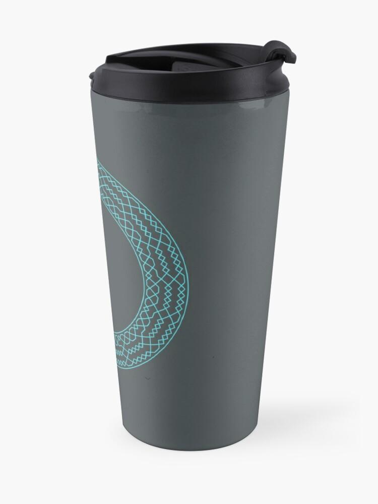 Alternate view of Stedman Triples Method Wreath — Mug (Blue) Travel Mug