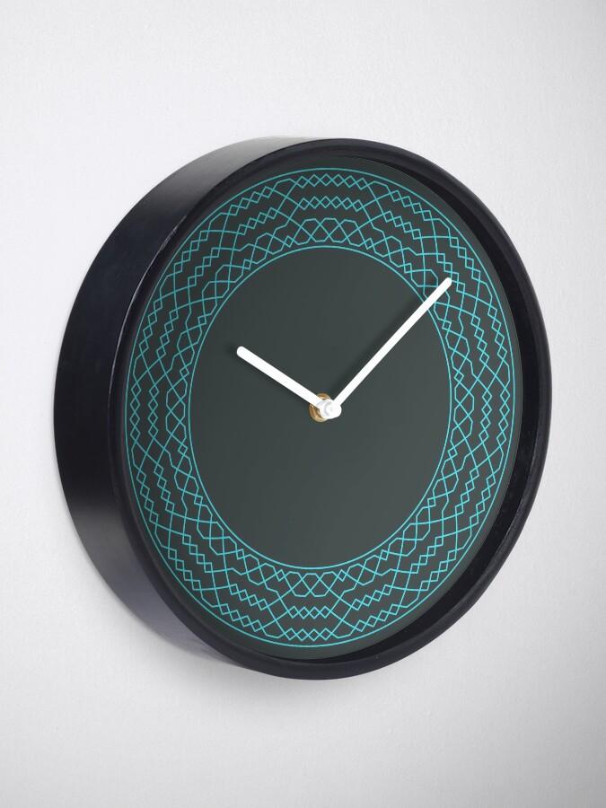 Alternate view of Stedman Triples Method Wreath — Clock (Blue) Clock