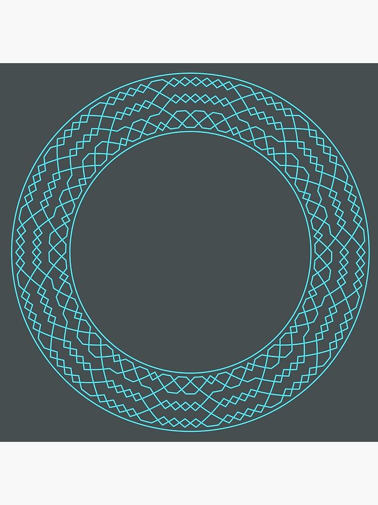 Stedman Triples Method Wreath — Clock (Blue) by RingingRoom