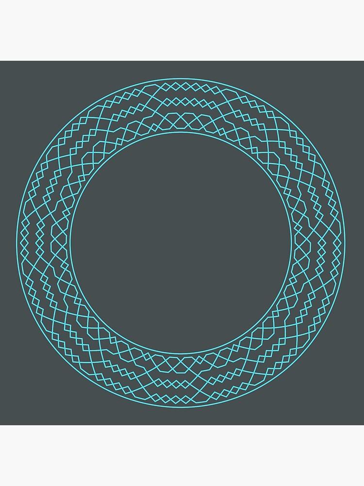 Stedman Triples Method Wreath — Coasters (Blue) by RingingRoom
