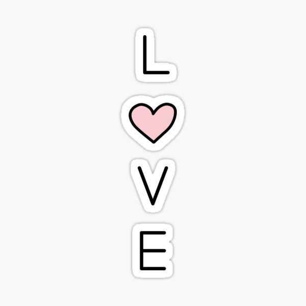 love vertical Sticker