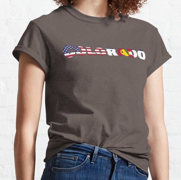 Colorado State Flag/ American Flag Classic T-Shirt