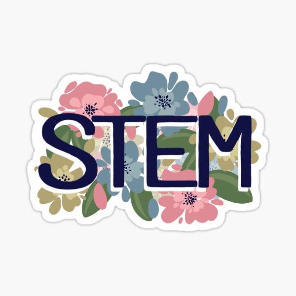 STEM & Flowers Sticker