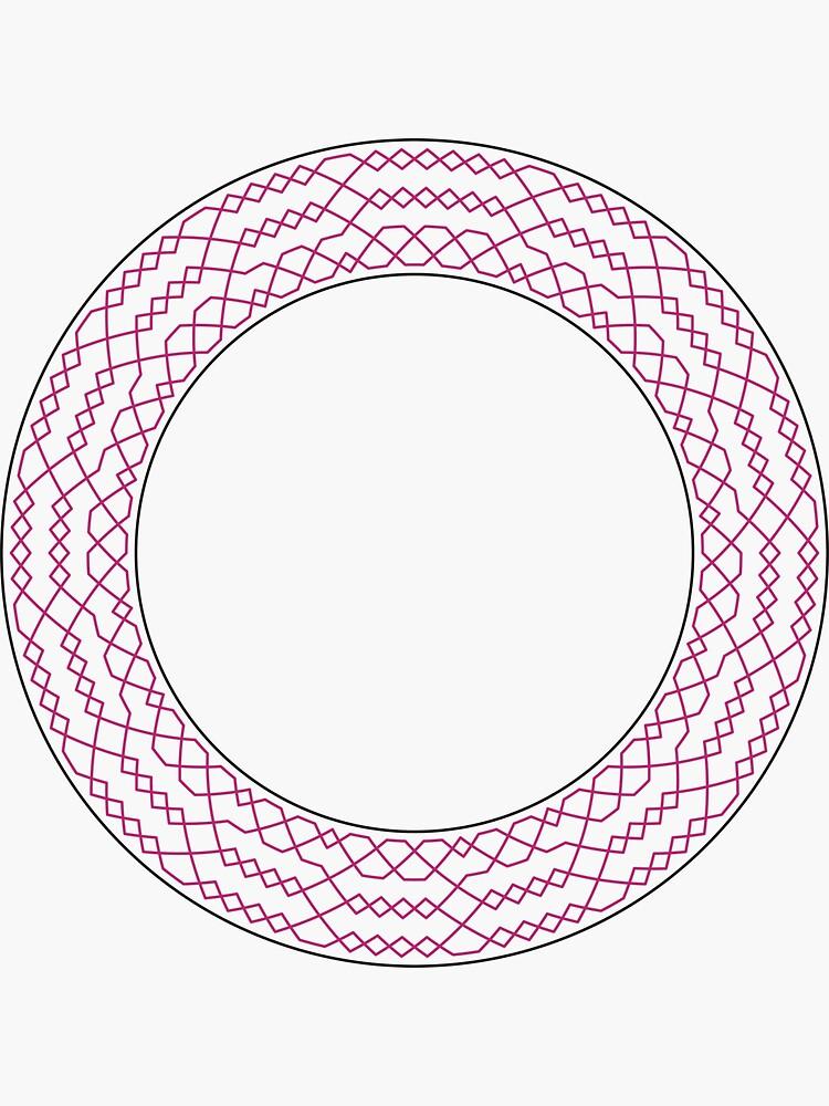 Stedman Triples Method Wreath — Stickers (Red) by RingingRoom