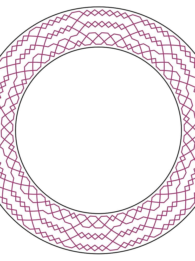 Stedman Triples Method Wreath — Scarf (Red) by RingingRoom