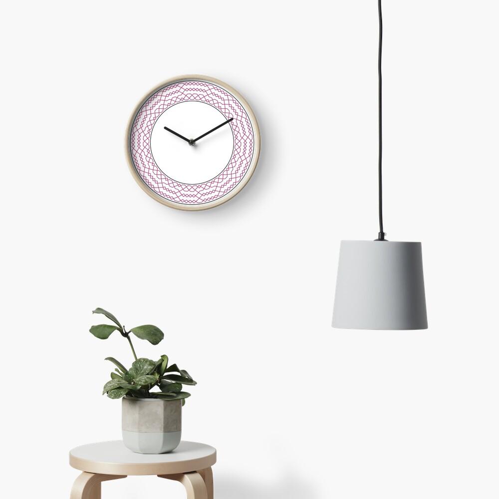 Stedman Triples Method Wreath — Clock (Red) Clock