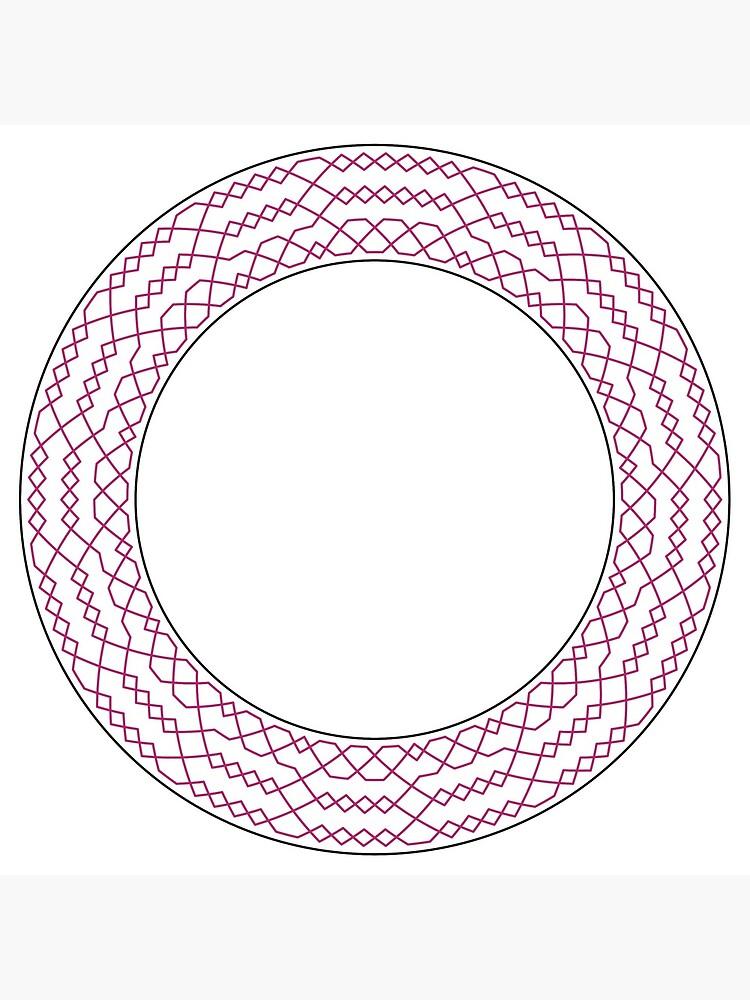 Stedman Triples Method Wreath — Clock (Red) by RingingRoom