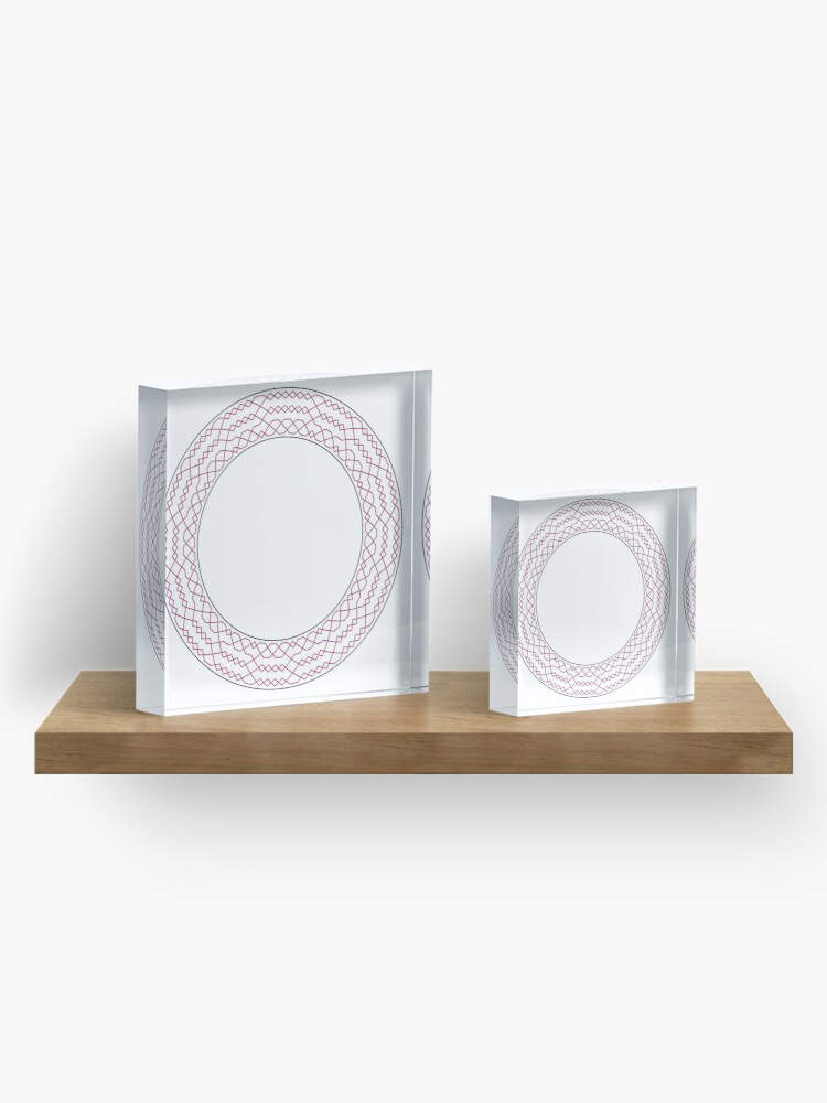 Alternate view of Stedman Triples Method Wreath — Coasters (Red) Acrylic Block