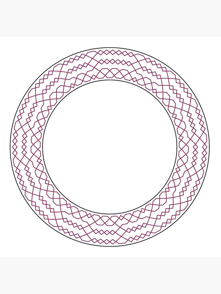 Stedman Triples Method Wreath — Coasters (Red) by RingingRoom
