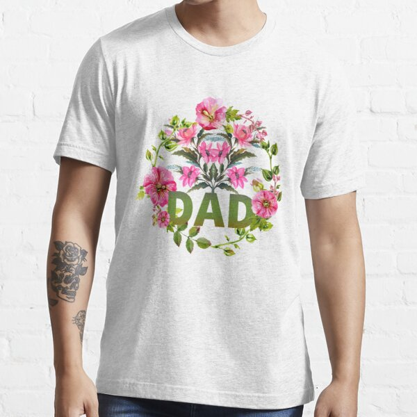 Forget Me Not Floral Wreath Dad Essential T-Shirt