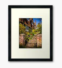 St Mary Bourne Garden Framed Print