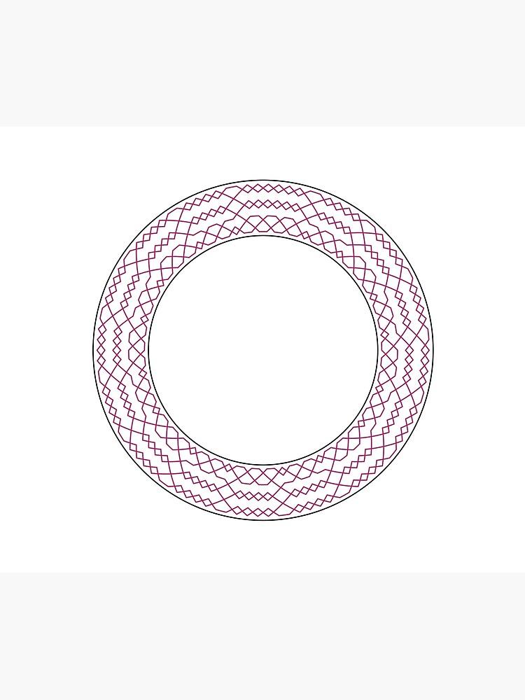 Stedman Triples Method Wreath — Blanket (Red) by RingingRoom