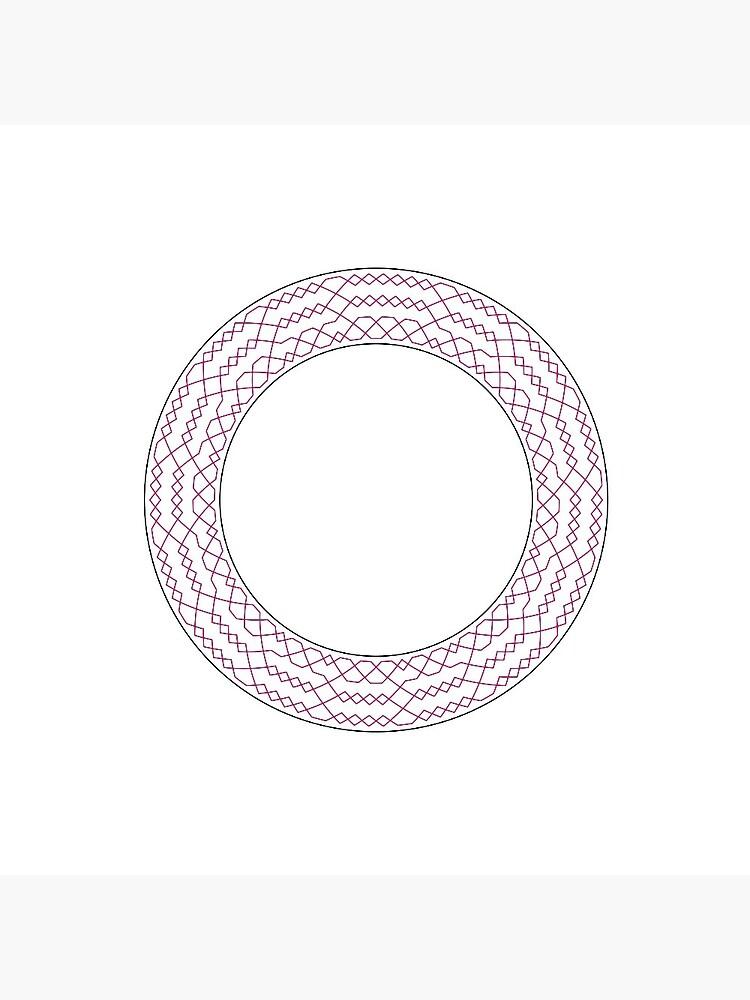 Stedman Triples Method Wreath —Pin (Red) by RingingRoom