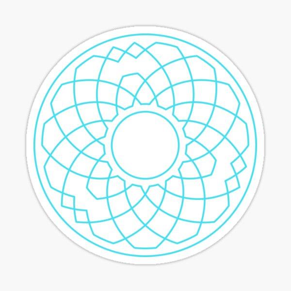 Grandsire Doubles Method Wreath — Stickers (Blue) Sticker