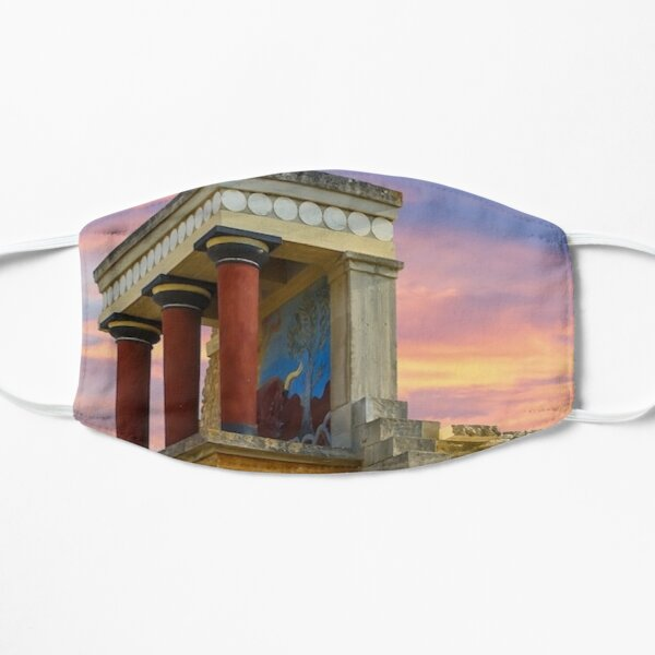 Knossos Palace in Crete Flat Mask