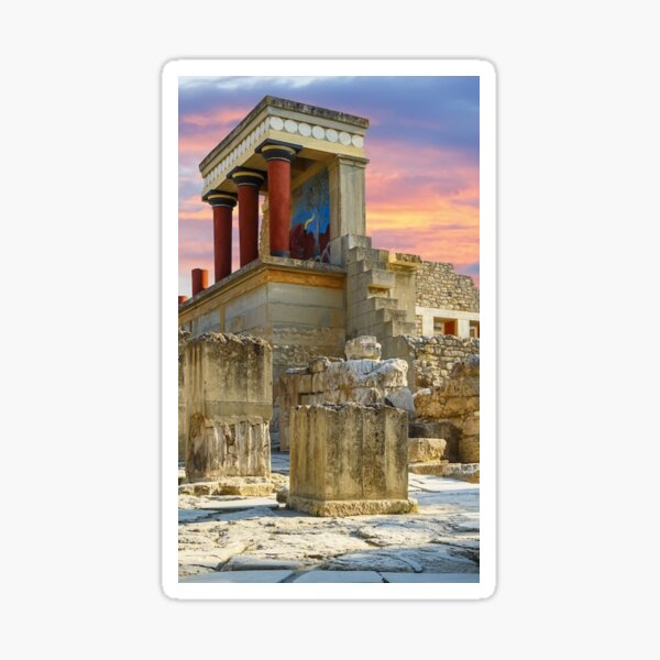 Knossos Palace in Crete Sticker