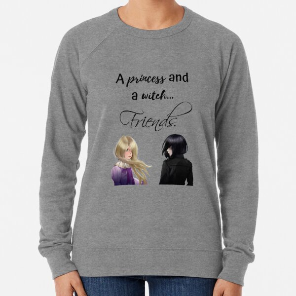a princess and a witch... friends. Lightweight Sweatshirt