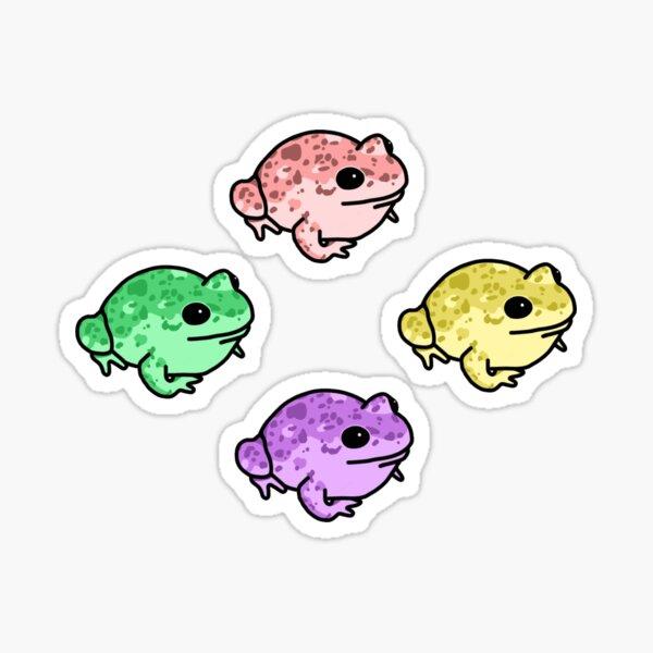 Pastel Speckled Frog Sticker Pack Sticker
