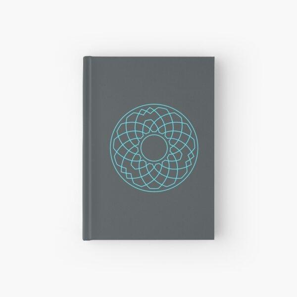 Grandsire Doubles Method Wreath — Notebook (Blue) Hardcover Journal
