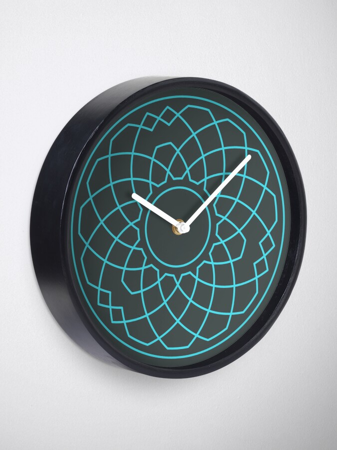 Alternate view of Grandsire Doubles Method Wreath — Clock (Blue) Clock