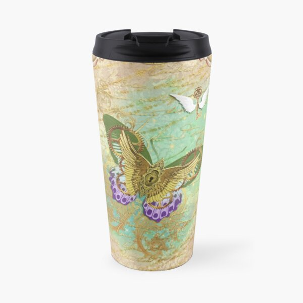Steampunk Whimsical Butterfly Travel Mug
