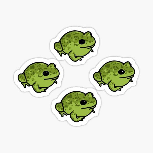 Green Speckled Frog Sticker Pack Sticker