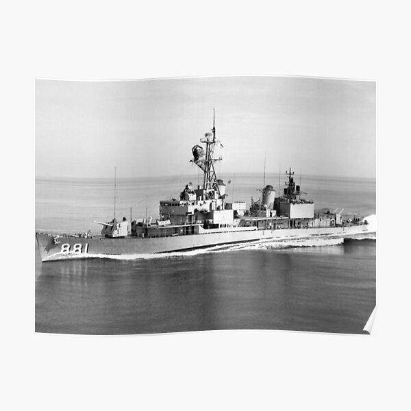 USS BORDELON (DD-881) SHIP'S STORE Poster