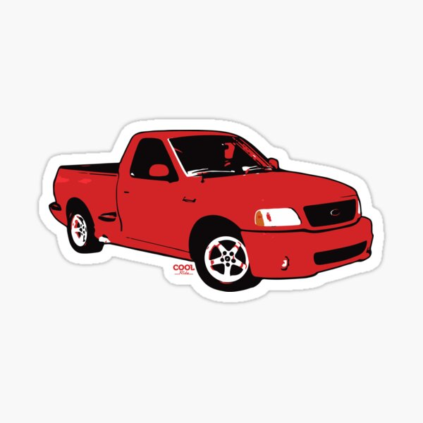 1999-2004 Red F Truck Sticker