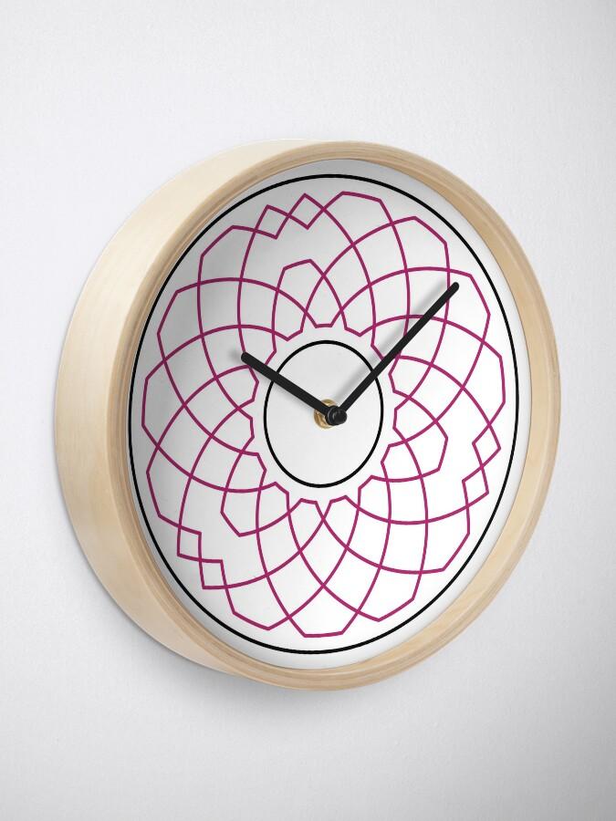 Alternate view of Grandsire Doubles Method Wreath — Clock (Red) Clock