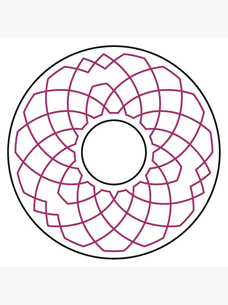 Grandsire Doubles Method Wreath — Clock (Red) by RingingRoom