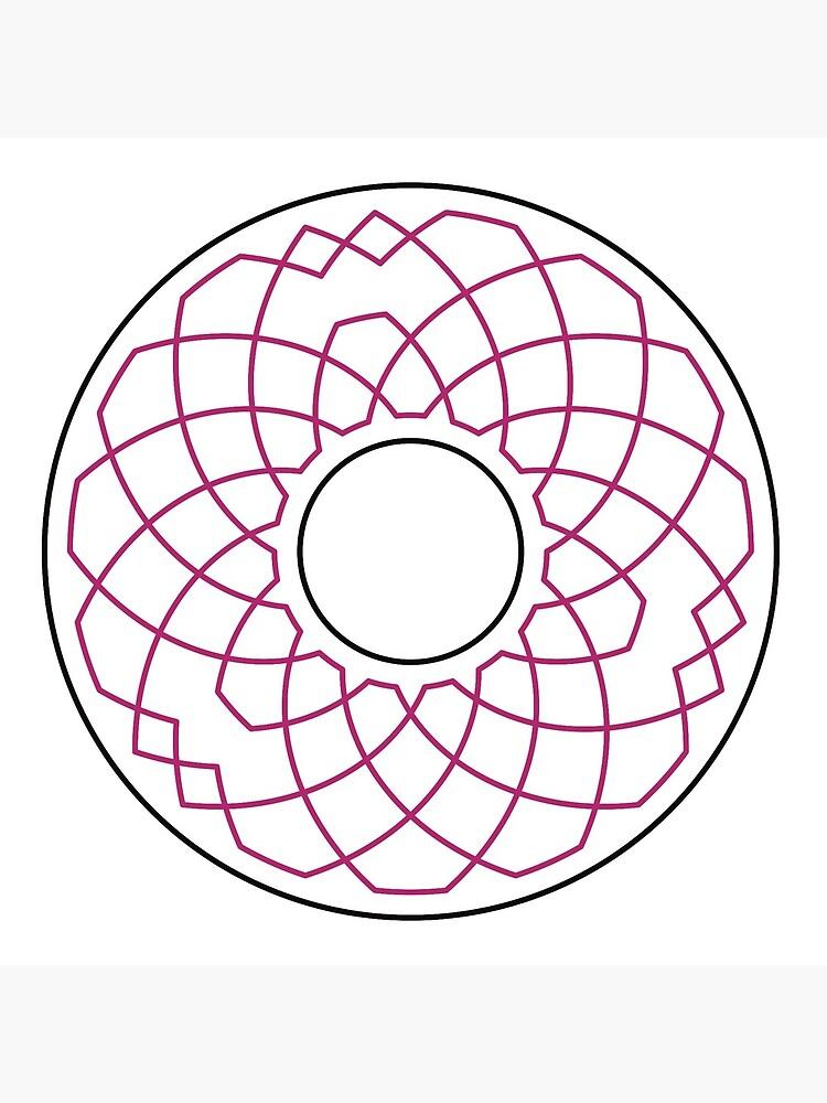 Grandsire Doubles Method Wreath — Coasters (Red) by RingingRoom