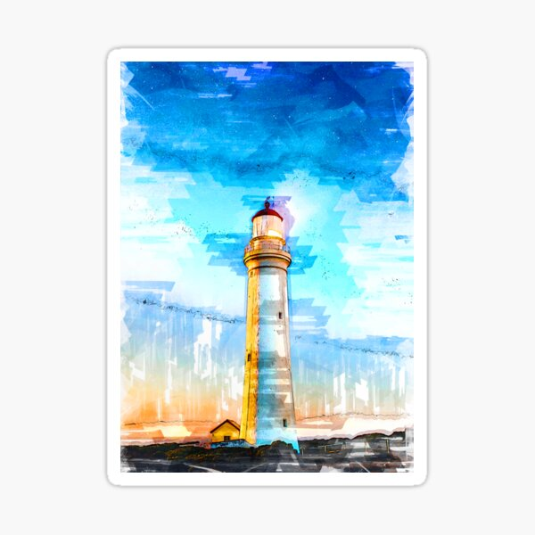 Lighthouse Night Cape Nelson Portland Australia - For Lighthouse Lovers Sticker